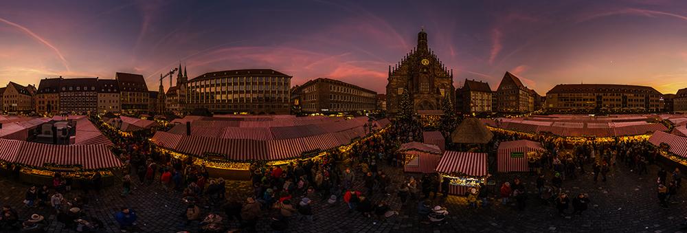 Nürnberger Christkindlesmarkt| 360° - Panorama